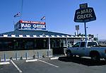 The Mad Greek Restaurant, Baker, California, USA
