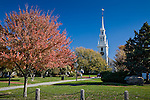 Trinity Church near Washington Square, Newport, RI, USA