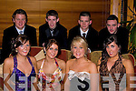 BEST: Best of friends meet up at Mounthawke Debs, in The Abbey Gate Hotel, Tralee on Saturday. Front l-r: Amy Horgan, Eimear Sheehy, Sinead Boyle and Katie Guinan. Back l-r: Jason Peevers, Sean Leahy, Anthony McAuliffe and Niall O'Brien.........