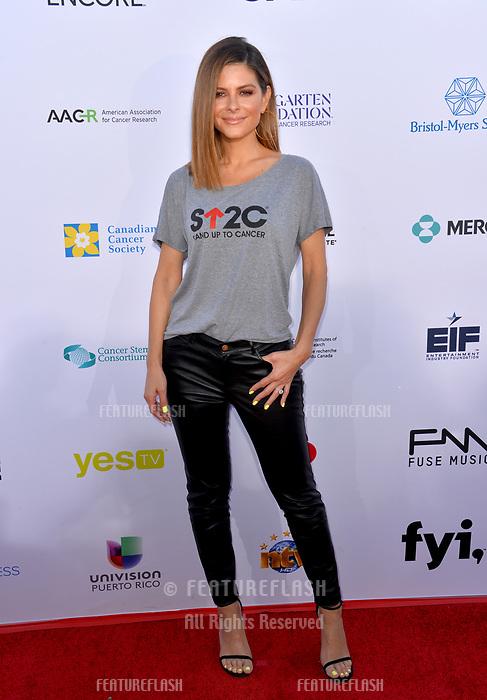 SANTA MONICA, CA. September 07, 2018: Maria Menounos at the 2018 Stand Up To Cancer fundraiser at Barker Hangar, Santa Monica Airport.