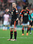 An unhappy Wayne Rooney of Manchester United<br /> - Barclays Premier League - Stoke City vs Manchester United - Britannia Stadium - Stoke on Trent - England - 26th December 2015 - Pic Robin Parker/Sportimage