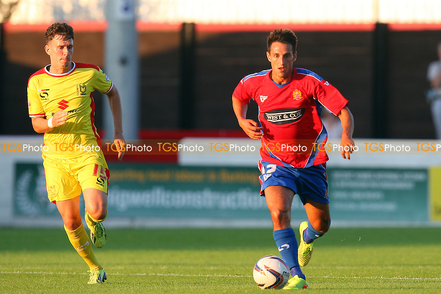 Luke Howell of Dagenham - Dagenham and Redbridge vs MK Dons, pre season friendly - 22/07/14 - MANDATORY CREDIT: Dave Simpson/TGSPHOTO - Self billing applies where appropriate - 0845 094 6026 - contact@tgsphoto.co.uk - NO UNPAID USE