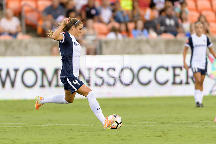 Houston, TX - Saturday July 15, 2017: Shelina Zadorsky during a regular season National Women's Soccer League (NWSL) match between the Houston Dash and the Washington Spirit at BBVA Compass Stadium.