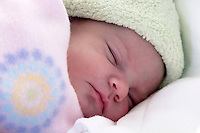 Infant girl sleeping