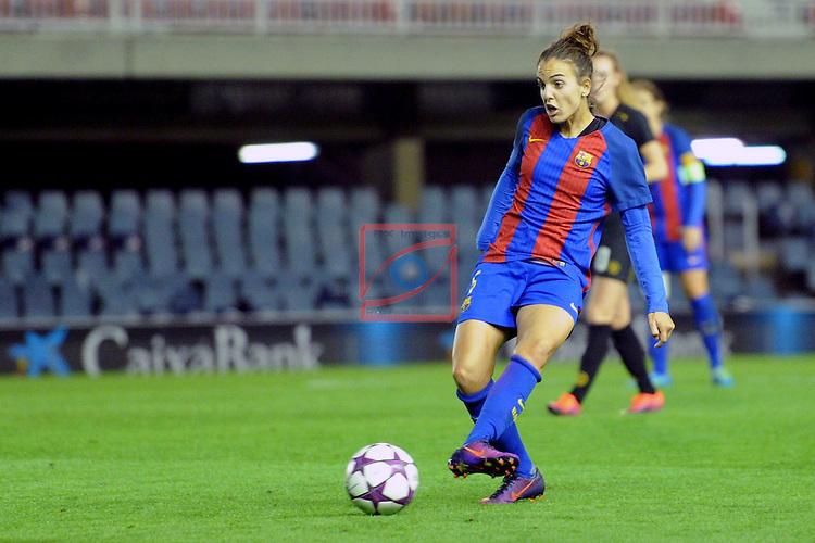 UEFA Women's Champions League 2016/2017.<br /> Round of 16 - First Leg<br /> FC Barcelona vs Twente: 1-0.<br /> Melanie Serrano.