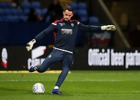 Bolton Wanderers' Remi Matthews warming up before the match  <br /> <br /> Photographer Andrew Kearns/CameraSport<br /> <br /> The EFL Sky Bet Championship - Bolton Wanderers v Sheffield Wednesday - Tuesday 12th March 2019 - University of Bolton Stadium - Bolton<br /> <br /> World Copyright © 2019 CameraSport. All rights reserved. 43 Linden Ave. Countesthorpe. Leicester. England. LE8 5PG - Tel: +44 (0) 116 277 4147 - admin@camerasport.com - www.camerasport.com