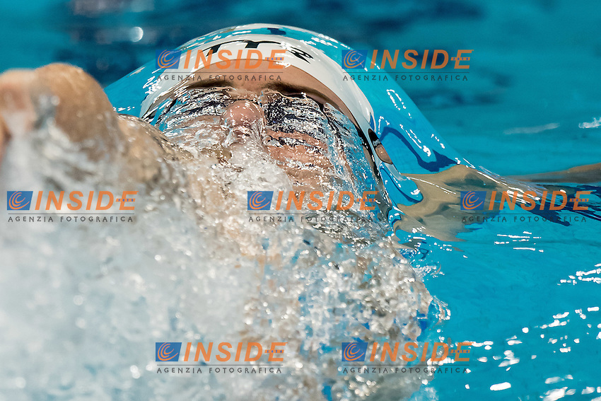 LACOURT Camille FRA<br /> 100 backstroke men<br /> London, Queen Elizabeth II Olympic Park Pool <br /> LEN 2016 European Aquatics Elite Championships <br /> Swimming day 02 finals<br /> Day 09 17-05-2016<br /> Photo Giorgio Scala/Deepbluemedia/Insidefoto