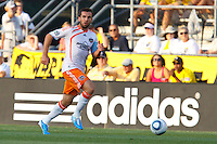 24 JULY 2010:  Eddie Robinson of the Houston Dynamo (2) during MLS soccer game between Houston Dynamo vs Columbus Crew at Crew Stadium in Columbus, Ohio on July 3, 2010. Columbus defeated the Dynamo 3-0.