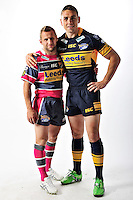 PICTURE BY VAUGHN RIDLEY/SWPIX.COM - Rugby League - ISC 2012 Super League Team Kit Shoot - 18/08/11- Leeds Rhinos Rob Burrow and Kevin Sinfield.