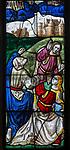 Sixteenth century stained glass windows inside church of Saint Mary, Fairford, Gloucestershire, England, UK - window 9 detail