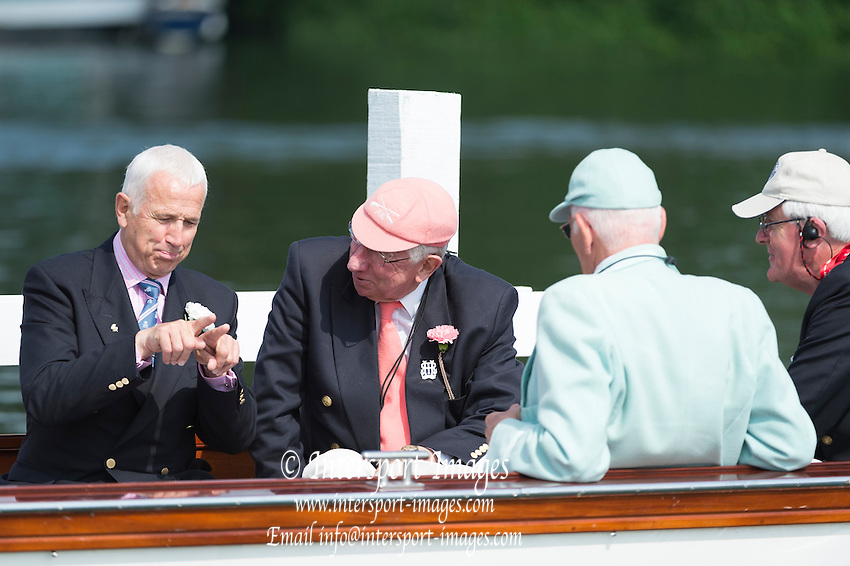 Henley Royal Regatta, Henley on Thames, Oxfordshire, 3-7 July 2013.  Saturday  10:19:40   06/07/2013  [Mandatory Credit/Intersport Images]<br /> <br /> Rowing, Henley Reach, Henley Royal Regatta.<br /> <br /> Fred Smallbone discussing race tactics with the timekeepers