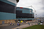 Coventry City 1 Birmingham City 1, 10/03/2012. Ricoh Arena, Championship. Fans arriving at the Ricoh Arena, before Coventry City hosted Birmingham City in an Npower Championship fixture. The match ended in a one-all draw, watched by a crowd of 22,240. The Championship was the division below the top level of English football. Photo by Colin McPherson.