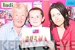 GLOBAL WISDOM: Taking a closer look at some global issues at the Listowel KDYS Multicultural Day on Thursday was Gaelscoil Lios Tuathail pupil Mikey O Doinn with Mary Flude (KDYS) and Mairead Keane O'Connor (teacher)..   Copyright Kerry's Eye 2008