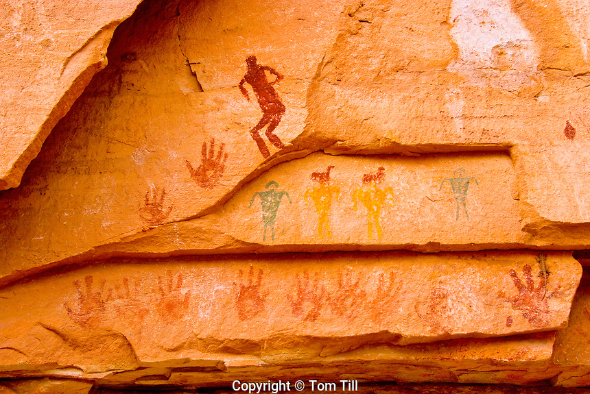 The Quail Panel, Grand Gulch, Utah, Proposed San Juan/Anasazi Wilderness, Ancient Native American rock paintings