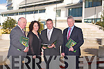 Mike McCarthy, Chairman of Cairde, Chiarri , Brid McElligott, Patrick O'Sullivan and Sean Walsh at the Launch of the Cairde Chiarrai fund-raising initiative to develop  Centre Excellence for the County in the IT Tralee North Campus on Monday