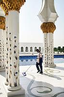 Abu Dhabi Mosque cleaner