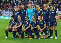 20170723 - BREDA , NETHERLANDS : English team  pictured during the female soccer game between England and Spain  , the second game in group D at the Women's Euro 2017 , European Championship in The Netherlands 2017 , Sunday 23 th June 2017 at Stadion Rat Verlegh in Breda , The Netherlands PHOTO SPORTPIX.BE | DIRK VUYLSTEKE