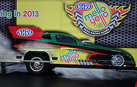 Sept. 16, 2012; Concord, NC, USA: View of the new NHRA colors for the 2013 Mello Yello season during the O'Reilly Auto Parts Nationals at zMax Dragway. Mandatory Credit: Mark J. Rebilas-