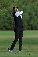 Rasmus Hojgaard (DEN) on the 7th during Round 2 of the Challenge Tour Grand Final 2019 at Club de Golf Alcanada, Port d'Alcúdia, Mallorca, Spain on Friday 8th November 2019.<br /> Picture:  Thos Caffrey / Golffile<br /> <br /> All photo usage must carry mandatory copyright credit (© Golffile | Thos Caffrey)