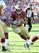 Washington Redskins running back Alfred Morris (46) carries the ball in the second quarter against the Carolina Panthers in the at FedEx Field in Landover, Maryland on Sunday, November 4, 2012..Credit: Ron Sachs / CNP