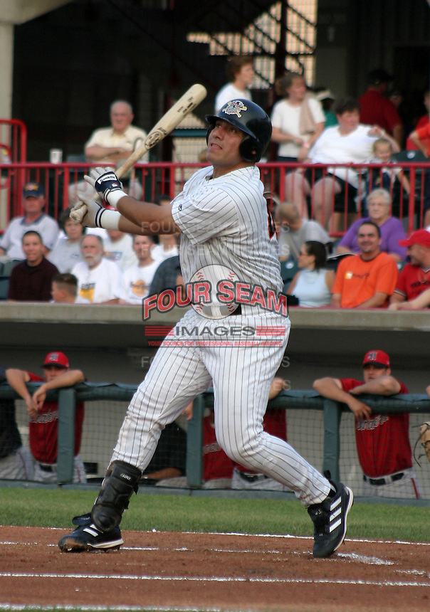 August 20, 2003:  Billy Munoz of the Erie Seawolves, Class-AA affiliate of the Detroit Tigers, during a Eastern League game at Jerry Uht Park in Erie, PA.  Photo by:  Mike Janes/Four Seam Images
