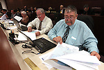 Nevada Assembly Minority Leader Pete Goicoechea, R-Eureka, right, and Assemblyman Tom Grady, R-Yerington, look at reapportionment maps on Friday, May 6, 2011, at the Legislature in Carson City, Nev..Photo by Cathleen Allison