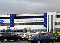Pictured: General view of Cardiff International Airport in Rhoose near Cardiff, south Wales. STOCK PICTURE<br /> Re: 54 year old Michael Bisgrove who endangered the life of 180 passengers on a Boeing 747 by shining a powerful laser into the cockpit from his bedroom in Boverton, Vale of Glamorgan, has been jailed for 32 months at Newport Crown Court, Wales, UK.