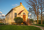 Iowa County, Wisconsin:<br /> Evening light on the Hyde Chapel in early spring
