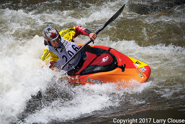 June 9, 2017 - Vail, Colorado, U.S. - Canada's, Nick Troutman, in the Freestyle Kayak competition during the GoPro Mountain Games, Vail, Colorado.  Adventure athletes from around the world meet in Vail, Colorado, June 8-11, for America's largest celebration of mountain sports, music, and lifestyle.