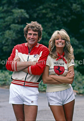Lee Majors and wife Farrah Fawcett,  Los Angeles, May 1977. Photo by John G. Zimmerman.