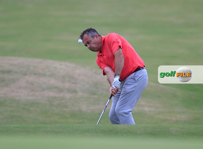 Pat Murray (Limerick) on the 18th during the South of Ireland Amateur Open Championship 4th Round at Lahinch Golf Club  29th July 2013 <br /> Picture:  Thos Caffrey / www.golffile.ie