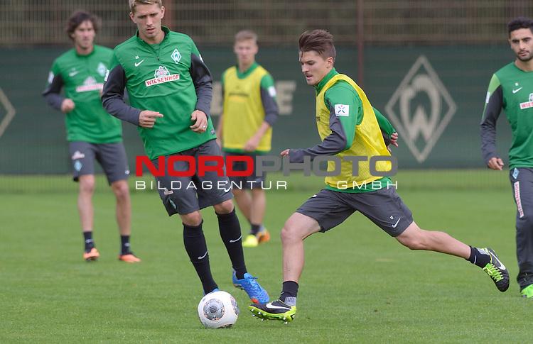 11.09.2013, Trainingsgelaende, Bremen, GER, 1.FBL, Training Werder Bremen, im Bild Aleksandar Ignjovski (Bremen #17)<br /> <br /> Foto &copy; nph / Frisch
