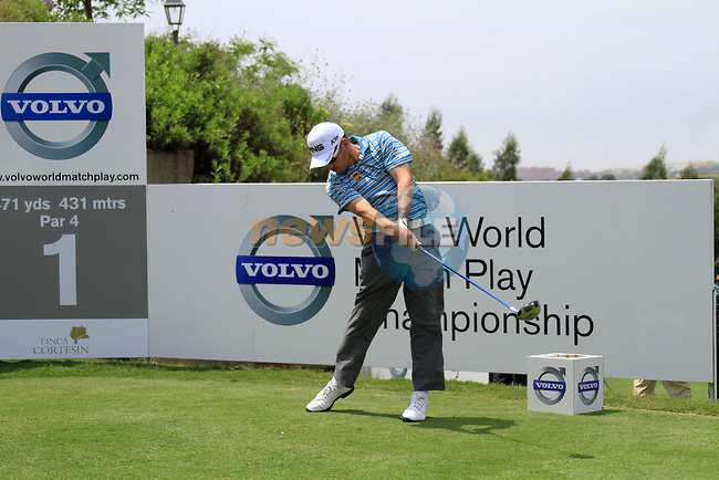 Louis Oosthuizen (RSA) teeing off on the 1st tee during Day 1 of the Volvo World Match Play Championship in Finca Cortesin, Casares, Spain, 19th May 2011. (Photo Eoin Clarke/Golffile 2011)