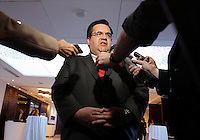 Montreal , CANADA - Nov 18  -  <br /> Montreal Mayor Denis Coderre speak before the <br /> French Chamber of Commerce in Canada , November 18 , 2014.<br /> <br /> Le Maire de Montreal Denis Coderre s'adresse a la Chambre de Commerce Francaise au Canada. le 18 novembre 2014.<br /> <br /> <br /> Photo :  Agence Quebec Presse - Pierre Roussel