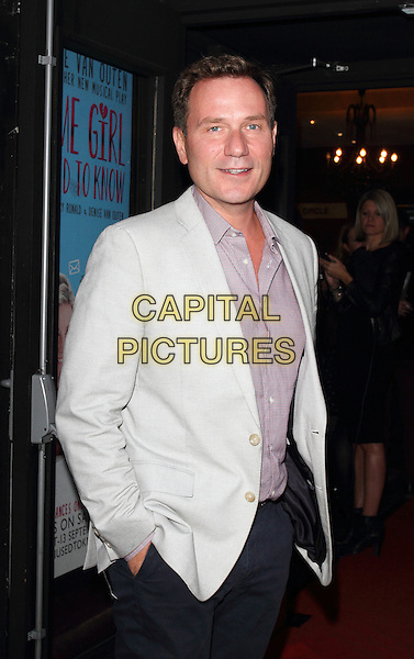 LONDON, ENGLAND - AUGUST 27: Richard Arnold attends the Some Girl I Used To Know - gala night at the Arts Theatre, Leicester Square on August 27, 2014 in London, England<br /> CAP/ROS<br /> &copy;Steve Ross/Capital Pictures