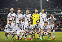 Spurs pre match team photo during the UEFA Europa League 2nd leg match between Tottenham Hotspur and Fiorentina at White Hart Lane, London, England on 25 February 2016. Photo by Andy Rowland / Prime Media images.