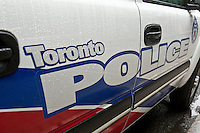 Toronto Police car is seen during a police memorial parade in Ottawa Sunday September 26, 2010.