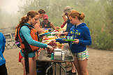 USA, Oregon, Wild and Scenic Rogue River in the Medford District, lunch at Missouri Creek