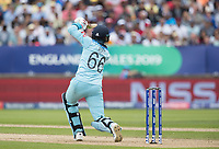 Trademark root driving through the covers during Australia vs England, ICC World Cup Semi-Final Cricket at Edgbaston Stadium on 11th July 2019