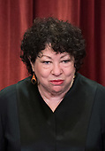 Associate Justice of the Supreme Court Sonia Sotomayor poses during the official Supreme Court group portrait at the Supreme Court on November 30, 2018 in Washington, D.C. <br /> Credit: Kevin Dietsch / Pool via CNP