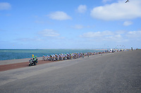 peloton next to the North Sea<br /> <br /> 2nd World Ports Classic 2013<br /> stage 2: Rotterdam  (NLD) - Antwerpen (BEL)<br /> 191km