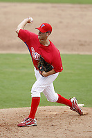 July 10, 2009:  Pitcher Justin Beal (44) of the GCL Phillies during a game at Bright House Networks Field in Clearwater, FL.  The GCL Phillies are the Gulf Coast Rookie League affiliate of the Philadelphia Phillies.  Photo By Mike Janes/Four Seam Images