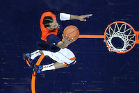 Virginia Cavaliers forward Mike Scott (23) shoots the ball during the game against North Carolina in Charlottesville, Va. North Carolina defeated Virginia 54-51.