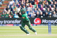 Shakib Al Hasan (Bangladesh) pushes into the offside to bring up his century during England vs Bangladesh, ICC World Cup Cricket at Sophia Gardens Cardiff on 8th June 2019