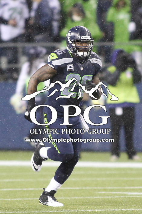 Dec 23, 2012:  Seattle Seahawk's Michael Robinson against the San Francisco during Sunday nights game of the week at Century Link Stadium in Seattle WA.  Seattle defeated San Francisco 42-13.