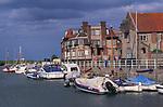 AE2KT1 Blakeney quayside boats Norfolk England