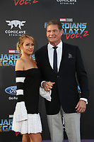 19 April 2017 - Hollywood, California - David Hasselhoff, Hayley Roberts. Premiere Of Disney And Marvel's &quot;Guardians Of The Galaxy Vol. 2&quot; held at Dolby Theatre. <br /> CAP/ADM/PMA<br /> &copy;PMA/ADM/Capital Pictures