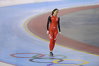 SCHAATSEN: SALT LAKE CITY: Utah Olympic Oval, 14-11-2013, Essent ISU World Cup, training, Beixing Wang (CHN), ©foto Martin de Jong