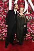 Mark Rylance and wife arrives at The 72nd Annual Tony Awards on June 10, 2018 at Radio City Music Hall in New York, New York, USA. <br /> <br /> photo by Robin Platzer/Twin Images<br />  <br /> phone number 212-935-0770