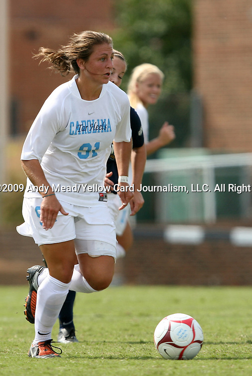 30 August 2009: North Carolina's Maria Lubrano. The University of North Carolina Tar Heels defeated the University of North Carolina Greensboro Spartans 1-0 at Fetzer Field in Chapel Hill, North Carolina in an NCAA Division I Women's college soccer game.